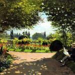 adolphe-monet-in-the-garden